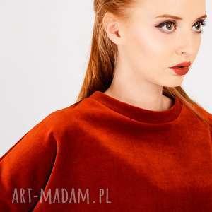 handmade bluzki ruda bluzka z weluru