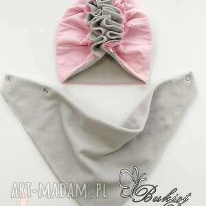 bukiet pasji czapeczka turban z chustą polar nr 1, czapka, chusta, polar, zima