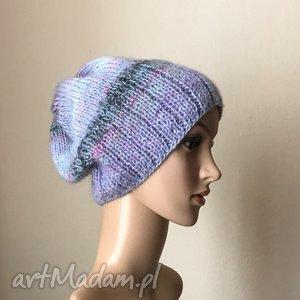 chłodne pastele - czapka, rękodzieło, prezent