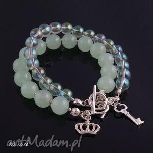 zielona tęcza bransoletka monle - kolorowe bransoletki, kryształ
