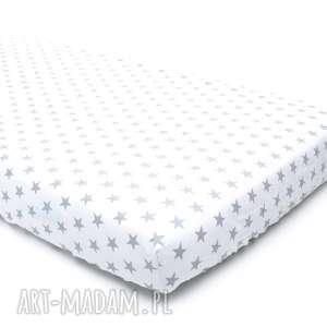 PRZEŚCIERADŁO 60x120cm bawełna gwiazdki na białym, prześcieradło, 60x120,