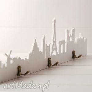 Wieszak Paryż 80 cm drewniany, biały, paryż, paris, wieszak, naubrania
