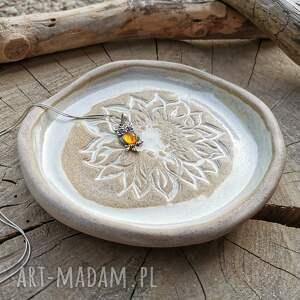 handmade ceramika ceramiczny talerzyk (c287)