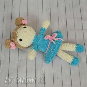 szydełkowa lalka - turkusowa panienka, lalka, turkusowa, lala