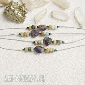 amulet - młodość, harmonia amazonit, ametyst, amulet, ochronna