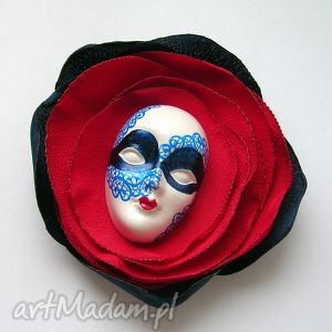 broszka z kolekcji masquerade - marynarska - maska, wenecka, marynarska, koronka, kwiat