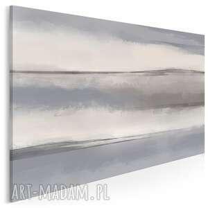 obraz na płótnie - szary biały minimalizm abstrakcja art 120x80 cm 98301