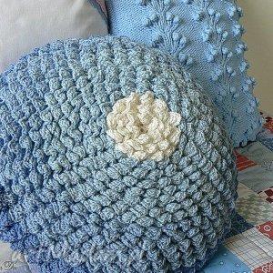 Poduszka rozetka, poduszka, poszewka, szydełkowa, okrągła