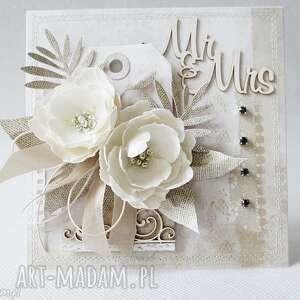 Kartka z kwiatami - w pudełku, ślub, życzenia, gratulacje, podziękowanie, urodziny,