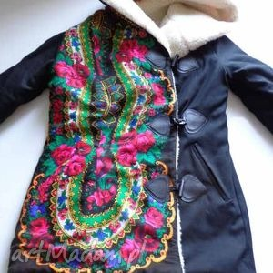 kurtka na wełnie Folk Design , folk