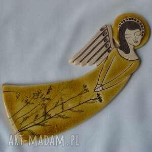 anioł ceramiczny - zlatna livada vela, anioł, aniołek, płaskorzeźba, komunię
