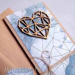 hand-made kartki kartka ślubna: geometric heart:: watercolors