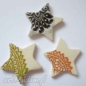 Prezenty święta: 3 magnesy zestaw ceramika ana ozdoby