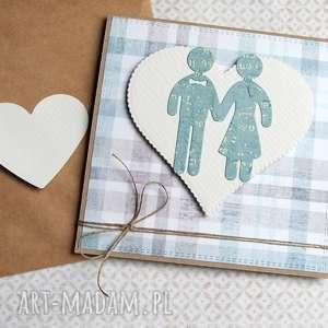 kartka ślubna :: ludziki pastelowa, ślub