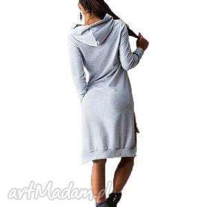 bluzki bawełniana tunika z kapturem, tuniki, kieszenie, kaptur, lato, wiosna ubrania