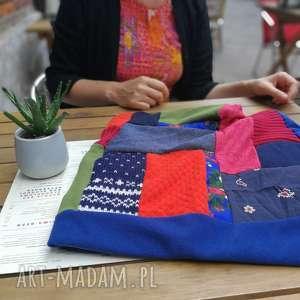 hand made czapki komin patchworkowy ciepły etno boho kolorowy