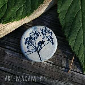 enio art dzika marchew - broszka, kwiaty polne, natura, ogród, prezent