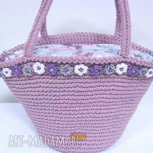 38909a40b00fe4 Hand Made na ramię torebki kosz plażowy etna - szydełkowy, elegancki, koszyk,  ...