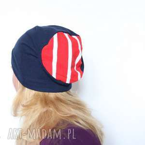 Czapka damska męska unisex dzianinowa handmade czapki ruda klara