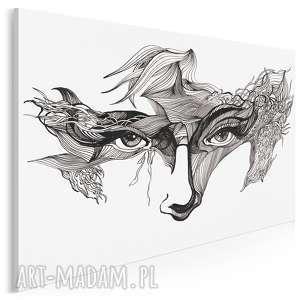 obraz na płótnie - oczy maska 120x80 cm (21101)
