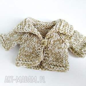 Pluszowy pan miś w melanżowym sweterku - HandMade