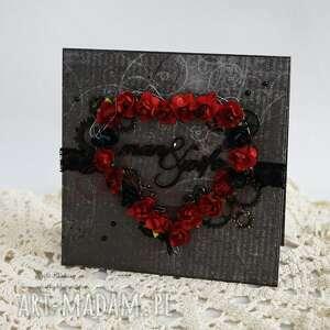 pod choinkę prezent, mroczna walentynka, walentynki, kartka, ślub