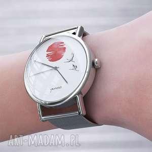 yenoo zegarek, bransoletka - japońskie żurawie 2 metalowy, zegarek