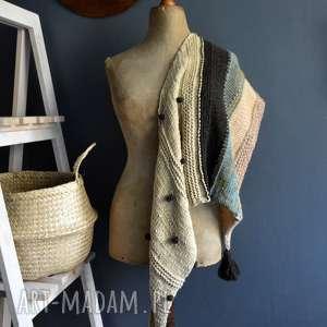 ręcznie robione szaliki asymetryczna chusta