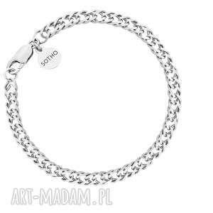 srebrna masywna bransoletka - łańcuszek, łańcuch, srebro925