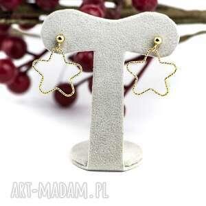 prezent na święta, gwiazdki, srebro 925, złocone, delikatne
