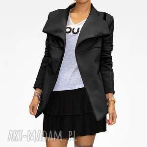 modernistyczna bluza damska ze stójką na zamek czarna s, zip, nowoczesna