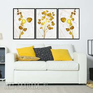 obrazy w ramie liść 1r - 84x40cm na płótnie kwiaty zestaw, liście, obraz