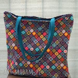 hand made na ramię wodoodporna kolorowa torba