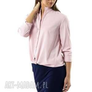 koszula damska colleto rose, stójka, wiskoza, zapinana, bez mankietów, przypinka