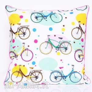 poduszka my bike 50x50cm od majunto, dekoracyjna, ozdobna