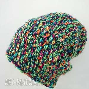 ręczne wykonanie czapki czapka hand made no. 020 / beanie / szydło