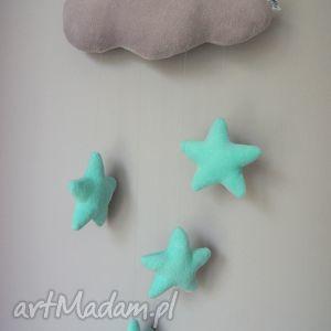 ręcznie zrobione upominek chmurka - mobil ozdoba ściany
