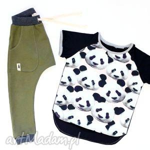 ubranka spodnie khaki baggy, spodnie, khaki, łaty, sznurek, pants
