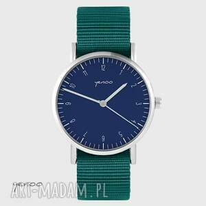 zegarek yenoo - simple, granatowy morski, unisex, zegarek, klasyczny, pasek