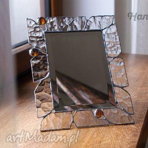 Stojące lusterko witrażowe cristal hanielgallery lustro