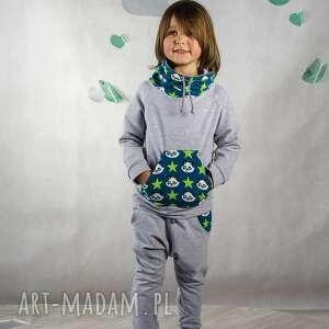 Bluza dresowa szara ze stójką - Panda Rozmiar Kids, wygodna, dresowa, bawełniana
