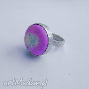 Okrąg pierścionek katarzyna kaminska srebro, howlit,