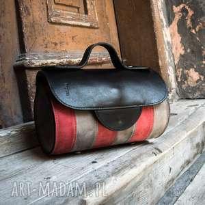 handmade mini mała podręczna torebka w pięknych kolorach od ladybuq skórzana