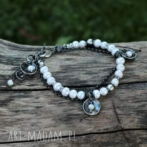perły z miseczkami - bransoletka, perła, perły, bransoletka perłami