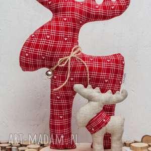 pomysł jaki prezent pod choinkę Renifer renifery stojące plaster drewna serca