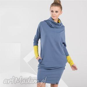 LONG TUBE | sukienka dresowa z kominem - sukienka, dresowa, komin, tuba
