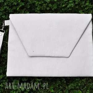 ręcznie robione kopertówki kopertówka xl - ecru