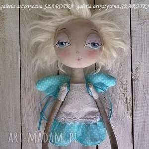 dekoracje anioŁek lalka - ozdoba tekstylna, ooak one of a kind, aniołek