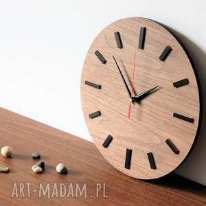 30 cm, zegar ścienny ORZECH, nowoczesny zegar,, zegar, drewniany, naścianę, orzech