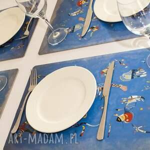 podkładki korkowa podkładka na stół błękitne niebo wassily kandinskyego